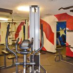 fitness center flag wall art